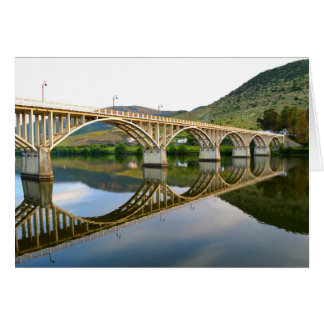 Road bridge over the River Douro Greeting Card