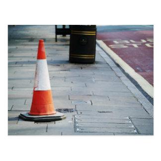 Road cone postcard