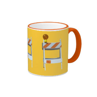 Road Construction Barricade Series Mugs