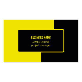 Road Construction Black Yellow Pack Of Standard Business Cards
