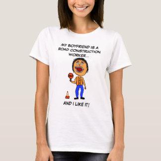 Road Construction Worker Boyfriend T-Shirt
