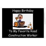 Road Construction Worker Card