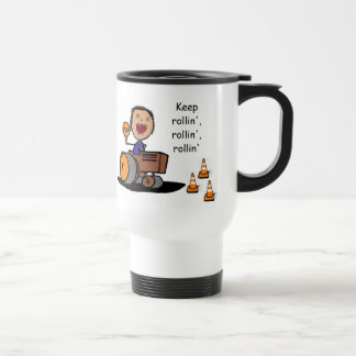Road Construction Worker Stainless Steel Travel Mug