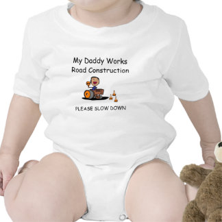 Road Construction Worker Baby Bodysuits