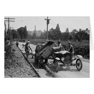 Road Crew at Work, 1925 Card