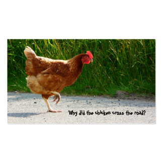 Road Crossing Chicken business card