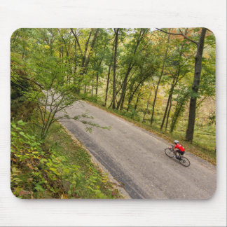 Road Cycling On Rural Country Road Mouse Pad