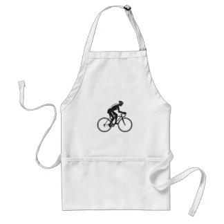 Road Cyclist Racing Woodcut Standard Apron