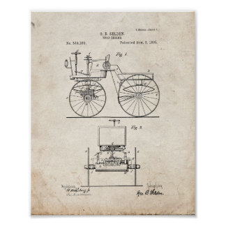 Road Engine Patent - Old Look Poster