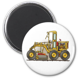 Road Grader Construction Round Magnet