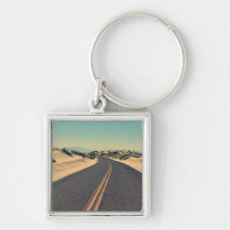Road in the desert key ring
