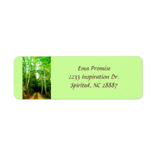 Road in the Woods Address Label