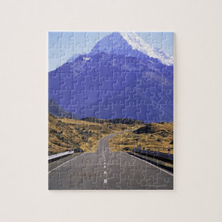Road into Mount Cook National Park, New Zealand Jigsaw Puzzle