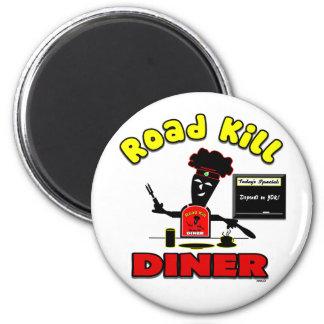 Road Kill Diner Magnet 2 Inch Round Magnet