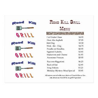 Road Kill Grill Postcard