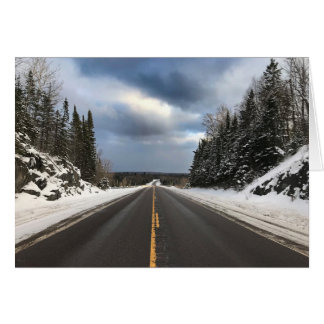 Road Less Traveled Open Road Blank Card