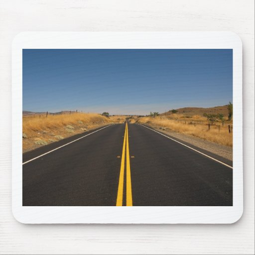 Road - Long Highway Mousepads