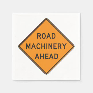 Road Machinery Ahead Paper Napkins