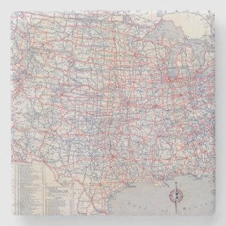 Road map United States Stone Beverage Coaster