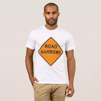 Road Narrows Road Sign Mens T-Shirt