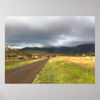 Road Near Lahaina, Maui, Hawaii Poster