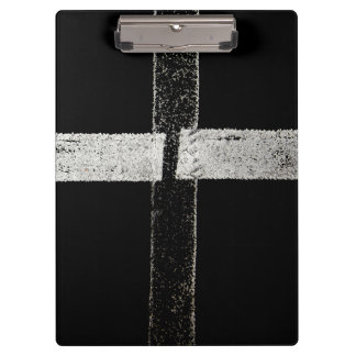 Road Painted Cross Lines Clipboard