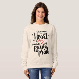 Road Paved In Paw Prints Sweatshirt