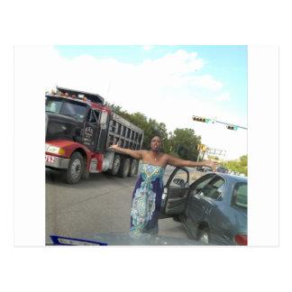 Road Rage Lady Meme Postcard