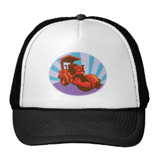 road roller construction equipment hats
