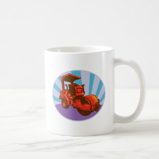 road roller construction equipment coffee mugs