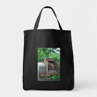 Road roller grocery tote bag