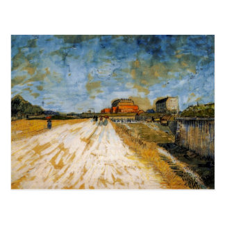 Road Running Beside the Paris Rampart by van Gogh Postcard