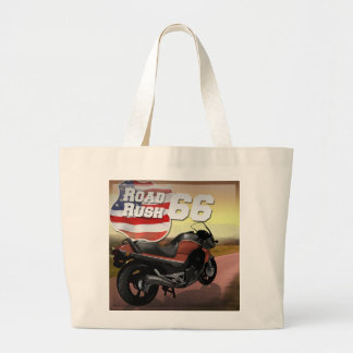 Road Rush 66 - Route 66 Jumbo Tote Canvas Bag