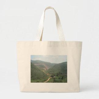 road & scenery jumbo tote bag