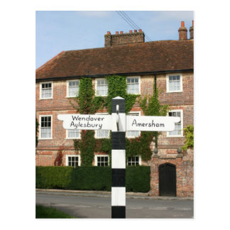 Road sign at Little Missenden, Buckinghamshire, UK Postcard