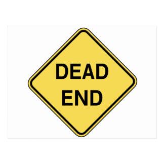 Road Sign - Dead End Postcard