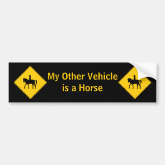 Road Sign- Horseback Rider Bumper Sticker