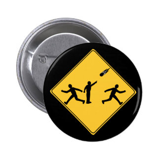 Road Sign- Meteor Pinback Button