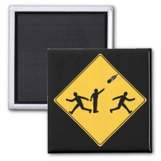 Road Sign- Meteor Square Magnet