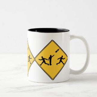 Road Sign- Meteor Coffee Mugs