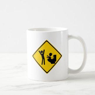 Road Sign Poop Goblin 1 Coffee Mugs
