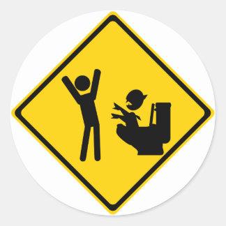 Road Sign Poop Goblin 1 Stickers