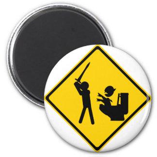 Road Sign Poop Goblin 2 Refrigerator Magnet