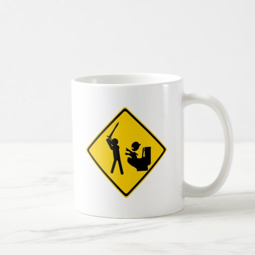 Road Sign Poop Goblin 2 Mug