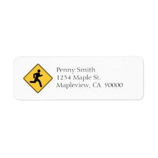 Road Sign - Runner Return Address Label