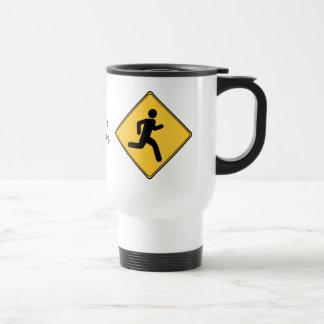 Road Sign - Runner Travel Mug