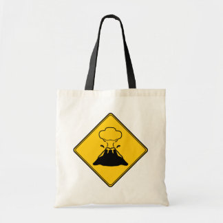Road Sign- Volcano Budget Tote Bag