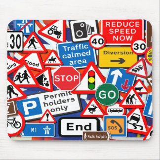 Road Signs Mouse Pad
