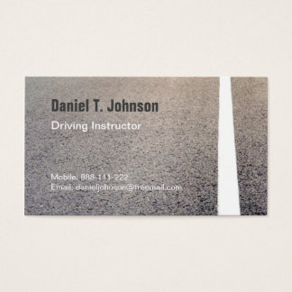 Road Texture Driving Instructor Business Cards