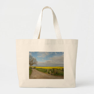 """""""Road to Beach at Alnmouth"""" Large Tote Bag"""